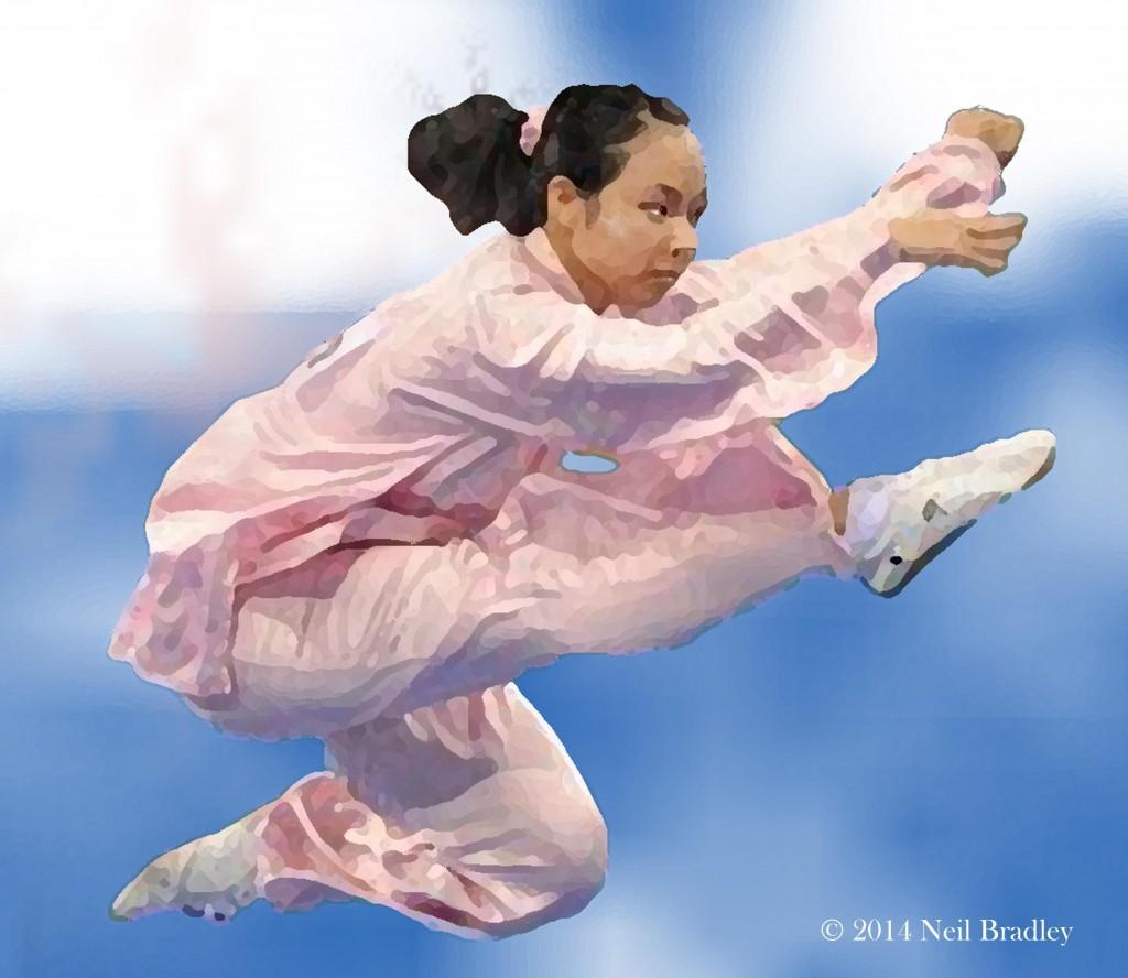 Tai Chi Girl Kicking