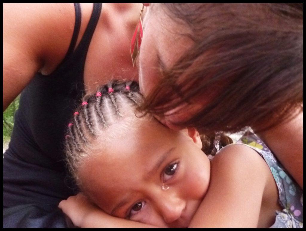crying brown girl