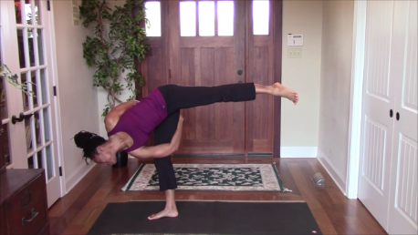 Yoga Tutorial Bound Half Moon