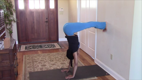 When It Comes To Handstands, Walls Are Our Friends